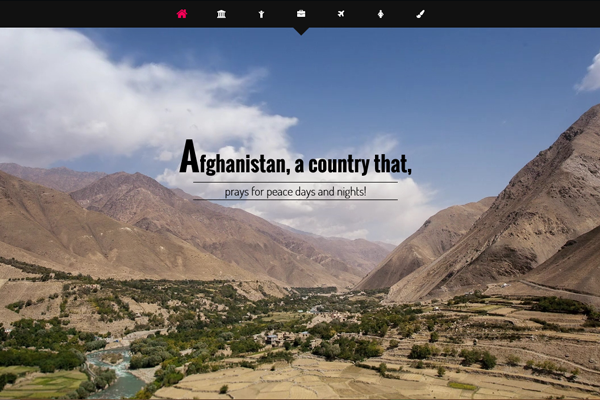 A website for Afghanistan