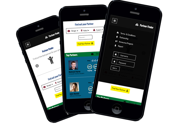 A mockup for a mobile application